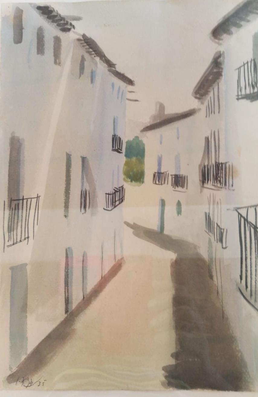 Ramon Gaya. Murcia  1910- Valencia 2005. Acuarela sobre papel. Medidas de 31 x 25.