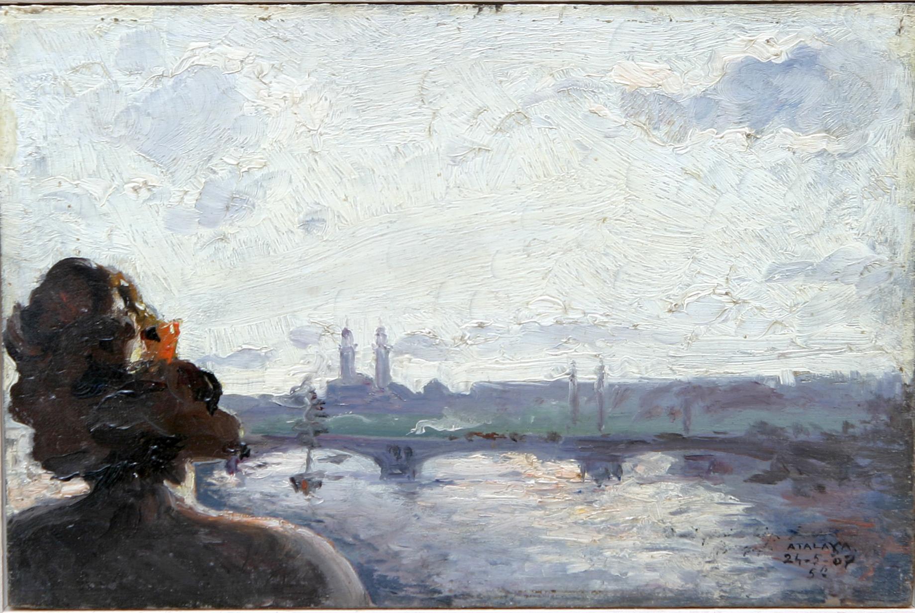 Enrique Atalaya. Murcia, 1851- París, 1913. Oleo sobre cartón 7,5 x 11.