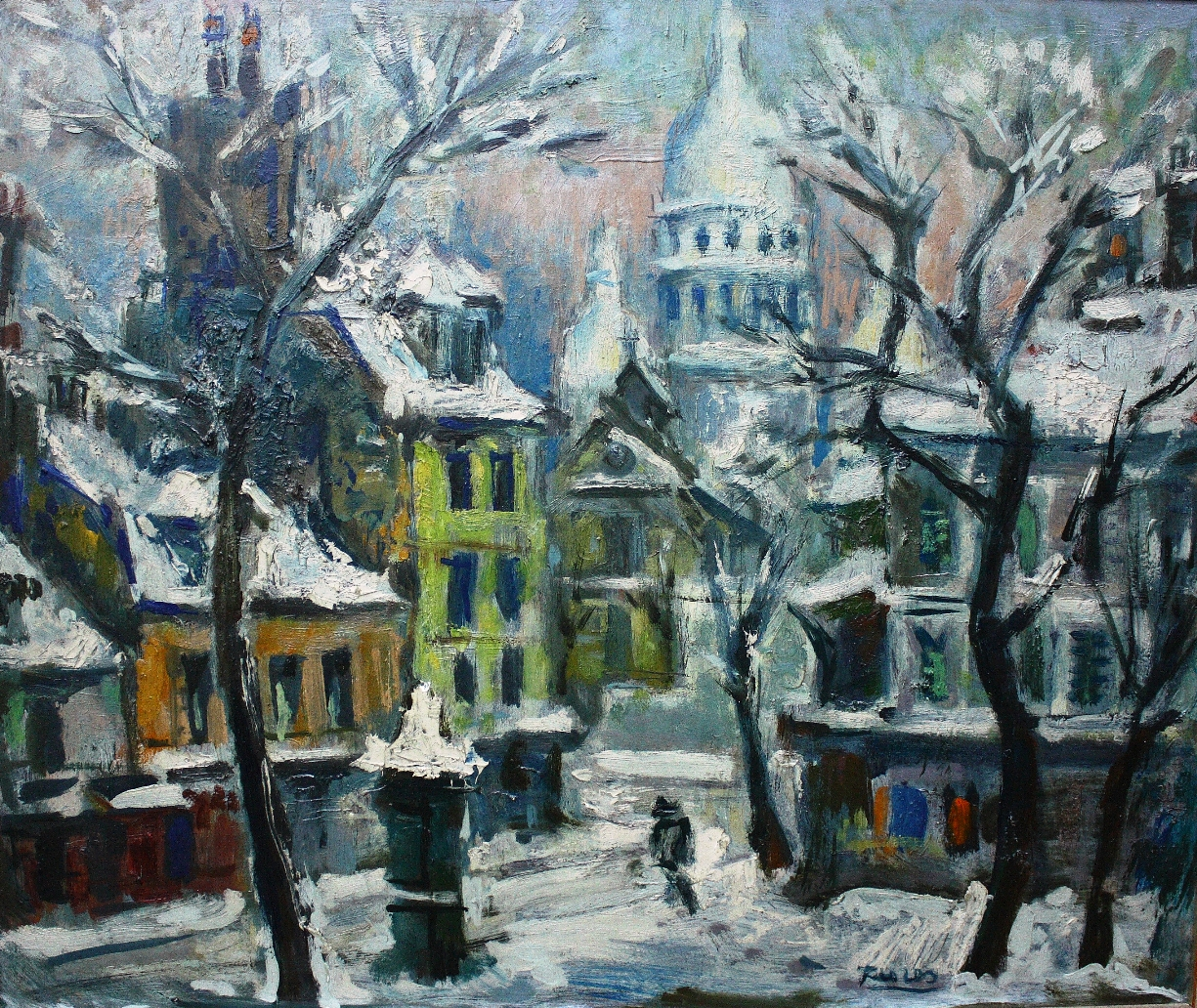 Paris nevado 45 x 55
