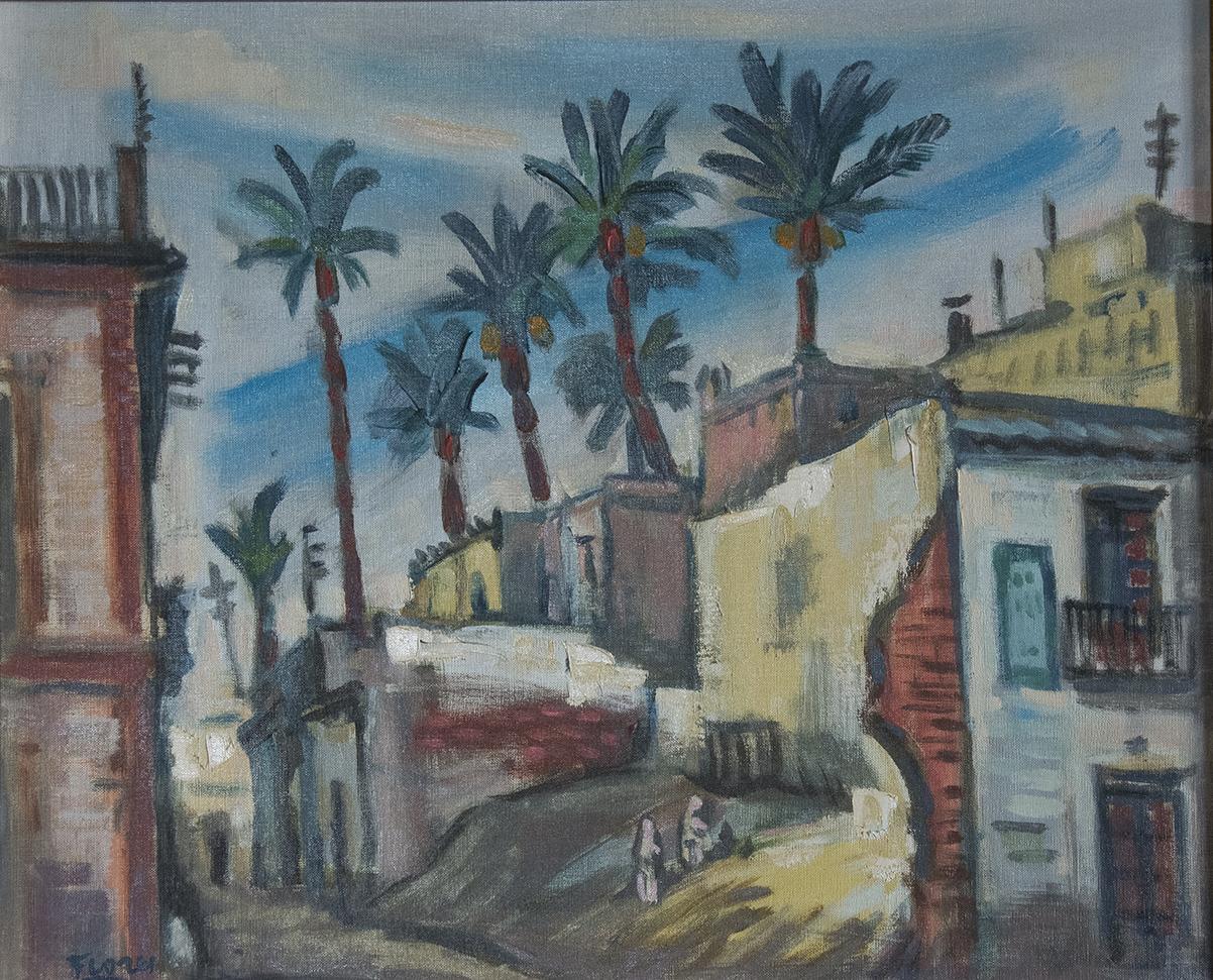 Pedro Flores. Murcia 1897 – Paris 1967. Oleo sobre lienzo. Medidas de 38 x 45.