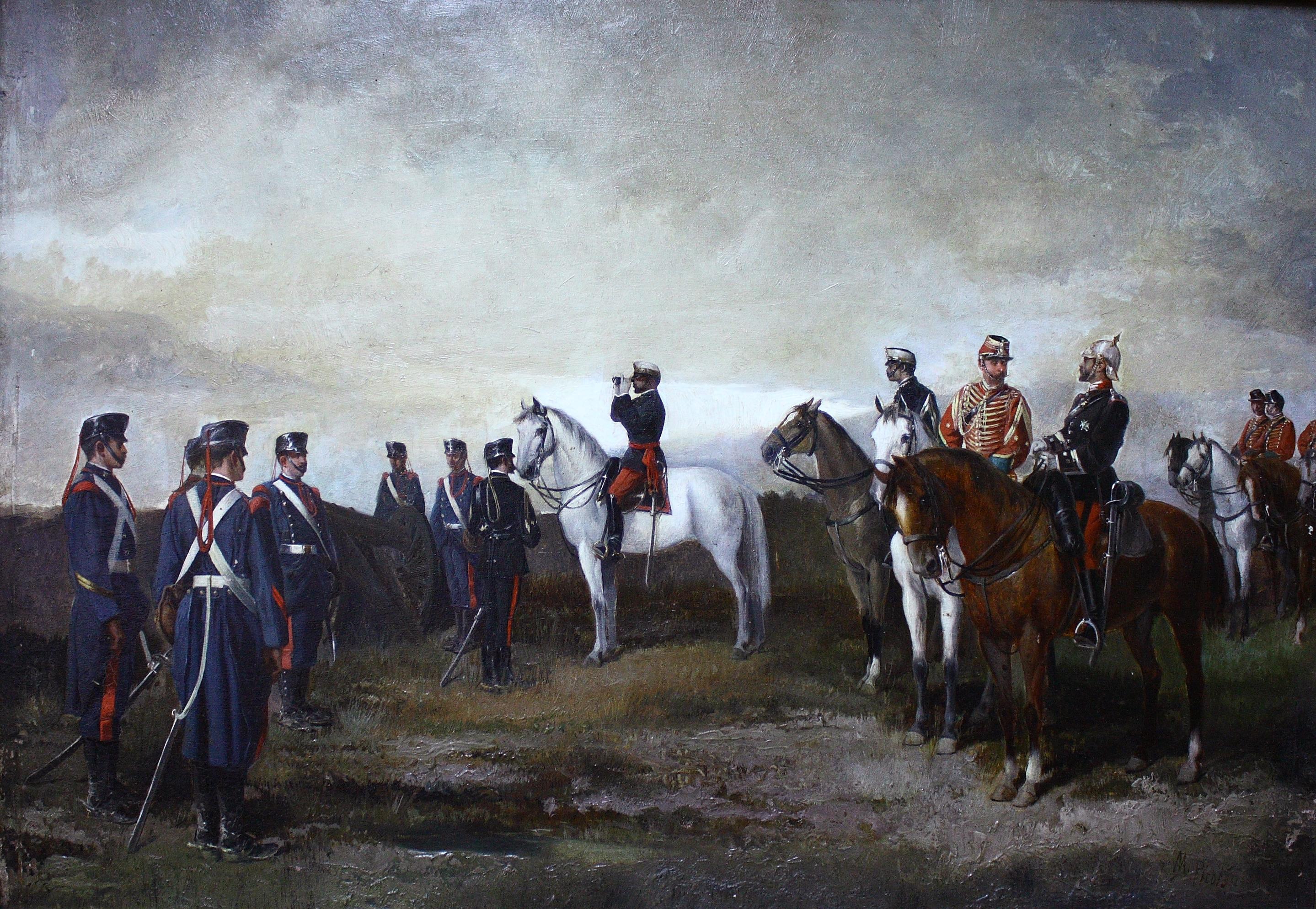 Manuel Picolo (1851-1913). Oleo lienzo. Medidas de 30 x 50.