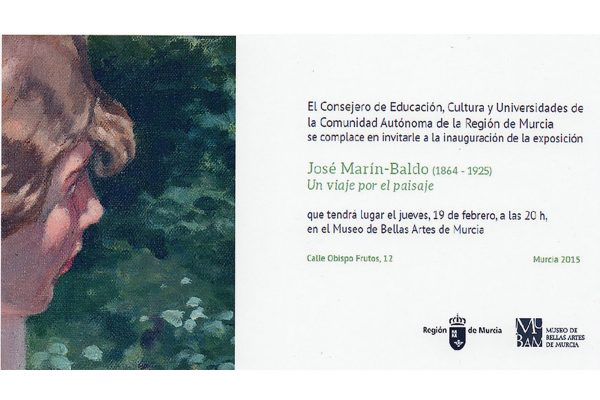 """Comisariado de la exposición """"José Marín-Baldo (1864 – 1925). Un viaje por el paisaje""""."""