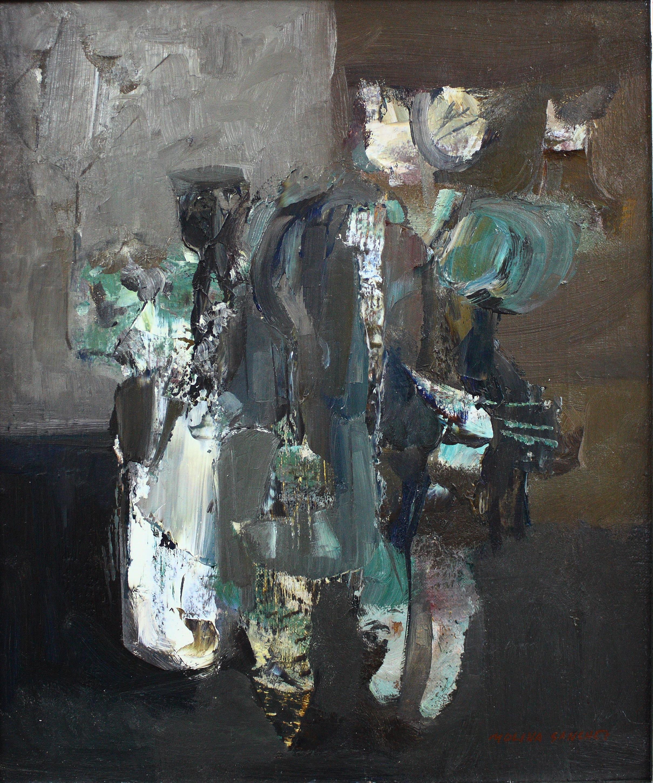 Molina Sanchez (1918 – 2009).  Oleo sobre lienzo. Medidas de 54 x 45..